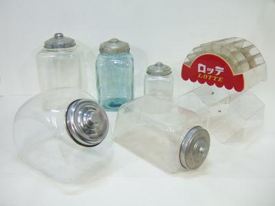 時代物駄菓子屋用品ガラス瓶